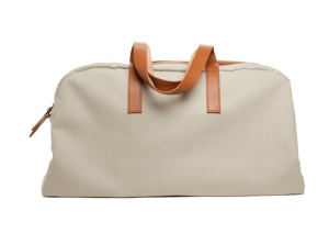 "Everlane: The Twill Weekender in ""Bone."""